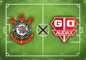 Escudos de Corinthians e Audax-SP.