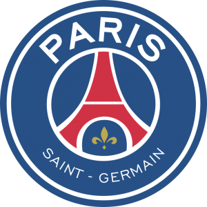 Escudo do Clube francês Paris Saint Germain.
