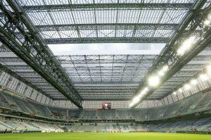 Této retrátil da Arena Atlético Paranaense.