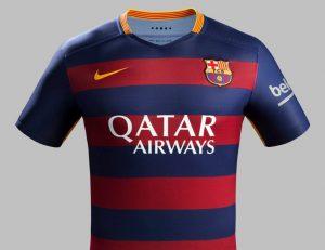 Camisa da temporada passada (2015/16).