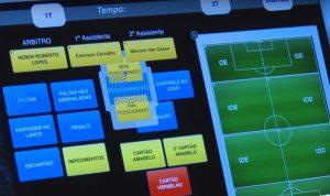 Tela do sistema adquirido pela CBF para ajudar os árbitros brasileiros.