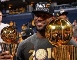 Lebron James NBA Most Valuable Player Award 2010.