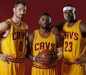 Big Three (Kevin Love, Kyrie Irving e Lebron James).