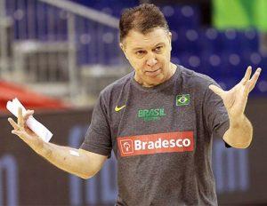 Rubén Magnano, técnico da seleção olímpica brasileira de basquete.
