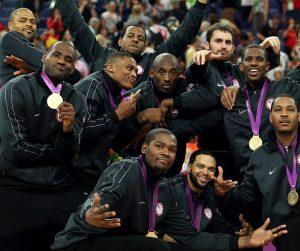 Seleção norte-americana masculina, vencedora da última olimpíada.