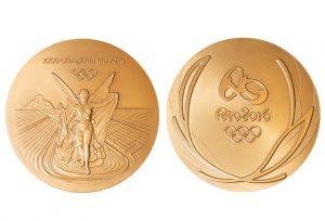 Medalha de ouro conquistada pela seleção de futebol olímpico masculina.