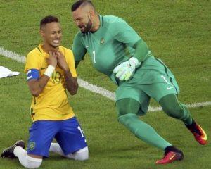 Neymar e Weverton, os heróis da medalha de ouro.