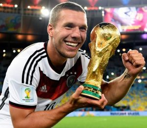 Podolski foi campeão mundial com a seleção da Alemanha em 2014.