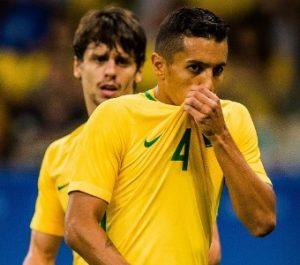 Os zagueiros Rodrigo Caio e Marquinhos estiveram na Olimpíada e foram convocados para as Eliminatórias.