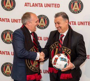 Tata Martino em sua apresentação no Atlanta United FC.