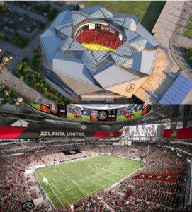 Mercedes-Benz Stadium, casa do Atlanta United FC.