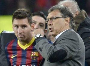 Tata Martino na época que treinou o Barcelona.