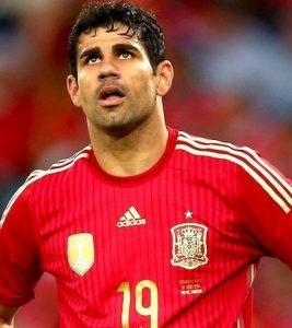 Diego Costa jogando pela seleção espanhola.