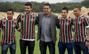 Jogadores Alexis Rojas, Marquinho, Danilinho e Wellington Silva.