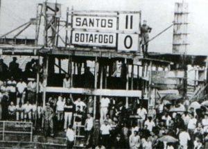 Santos x Botafogo, jogo em que Pelé fez oito gols.