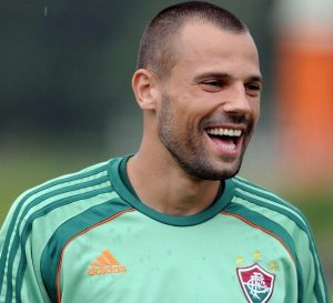 Diego Cavalieri treinando pelo Fluminense.