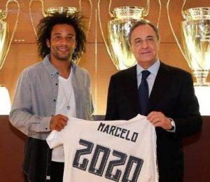 Segunda renovação de Marcelo pelo Real Madrid.