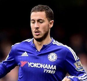 Eden Hazard atuando pelo Chelsea FC.
