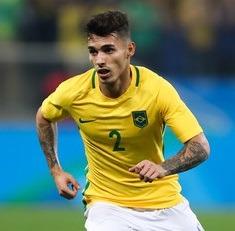 Zeca atuando pela seleção olímpica do Brasil.