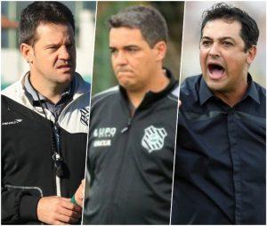 Técnicos Argel Fucks, Tuca Guimarães e Marquinhos Santos.