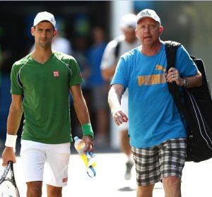 Novak Djokovic e Boris Becker.