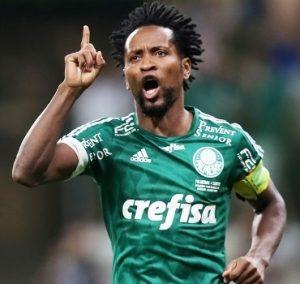 Zé Roberto jogando como Palmeiras.