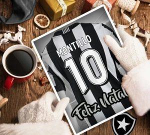 Imagem divulgada pelo Botafogo anunciando a contratação.