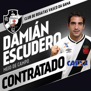 Imagem divulgada pelo Vasco da contratação de Escudero.