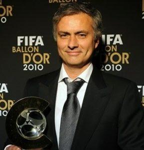 José Mourinho, primeiro premiado em 2010.