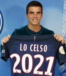 Meio-campista Giovani Lo Celso com a camisa do PSG.