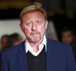 Treinador Boris Becker.