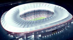 Imagem divulgada pelo Atlético de Madrid do seu novo estádio.