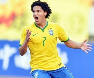 Felipe Gedoz pela seleção brasileira Sub-23.