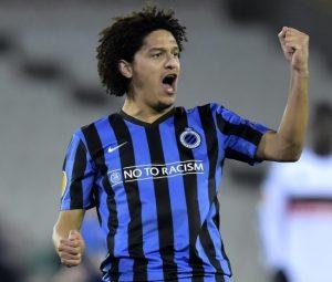 Felipe Gedoz pelo clube Brugge da Bélgica.