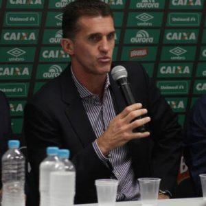 Vagner Mancini na sua apresentação como novo treinador da Chape.