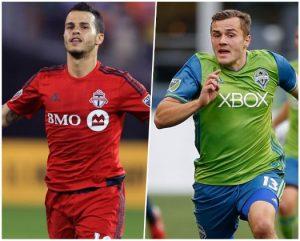 Sebastian Giovinco (Toronto FC) e Jordan Morris (Seattle Sounders FC).