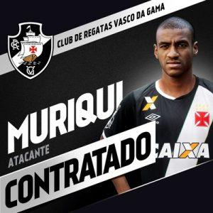 Imagem divulgada pelo Vasco sobre a contratação de Muriqui.