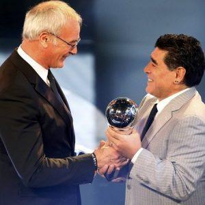 Claudio Ranieri e Diego Maradona.