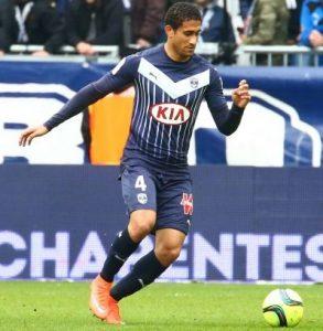 Zagueiro Pablo atuando pelo Bordeaux.