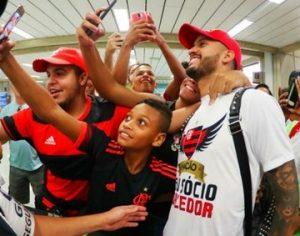 Volante Rômulo na sua chegada ao Rio de Janeiro.