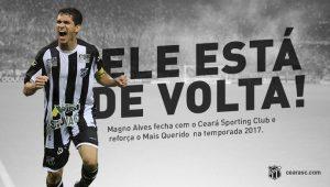 Imagem divulgada pelo Ceará Sporting Club.