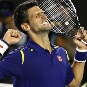 Djokovic em partida em 2016.