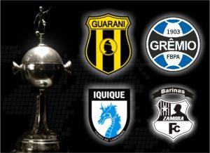 Escudos dos times do Grupo 8 da Libertadores de 2017.