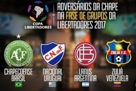 Escudos dos times integrantes do Grupo 7 da Libertadores 2017.