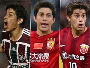 Conca no Fluminense, Guangzhou Evergrande e Shanghai Dongya.