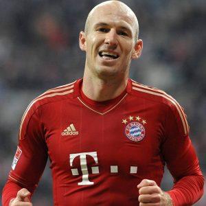 Robben atuando pelo Bayern de Munique.