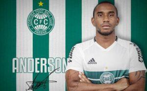 Anderson anunciado como reforço do Coritiba até final de 2017