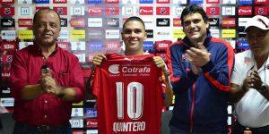 Quintero foi apresentado no Independiente Medellín em janeiro de 2017