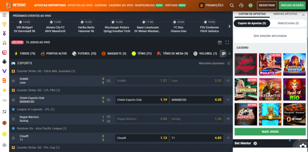 eSports - Betano